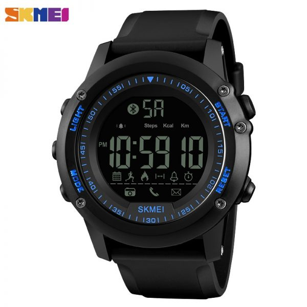 SKMEI Outdoor Men Smart Watch Steps Count Calorie Passometer Call Remind Bluetooth Sport Watches SmartWatch For Android IOS