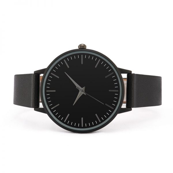 Simple Design Leather Strap watch elegant quartz wristwatch women clock black lady watch analog
