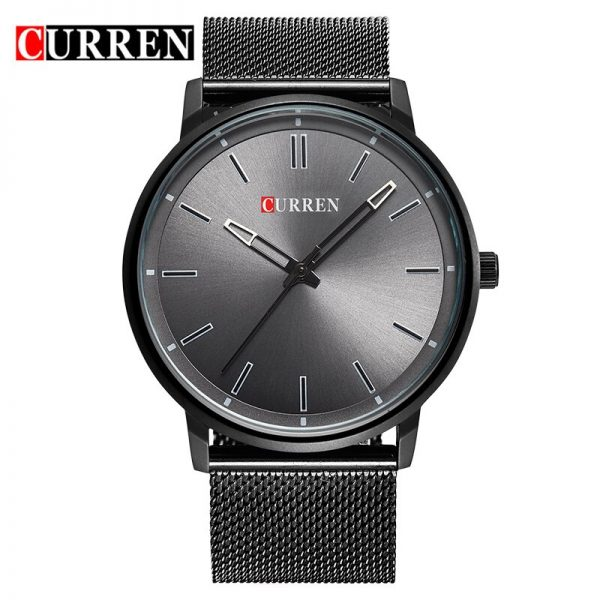 CURREN Watch Men Casual Sport Clock Mens Watches Top Brand Luxury Full Black Steel Quartz Watch For Male Gifts Relogio Masculino