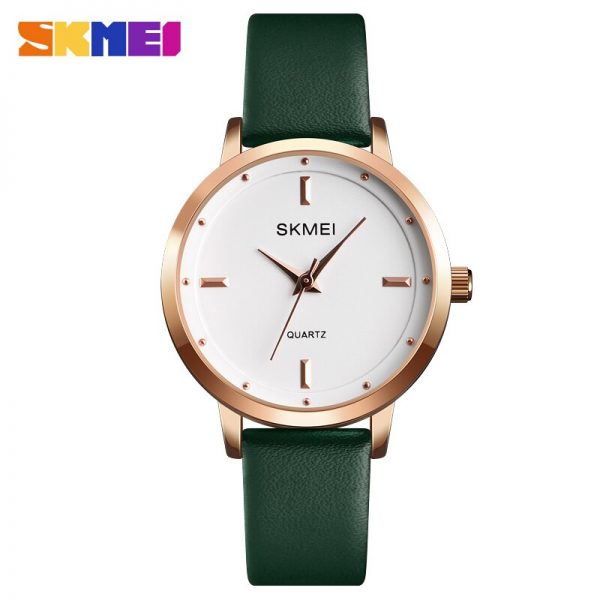 SKMEI 1457 Fashion Ladies Watches Leather Strap Female Quartz Watch Waterproof Women Wristwatch Relogio Feminino 6 kinds Color