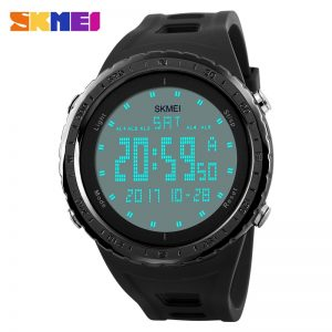 SKMEI Men Sports Watches Double Time Countdown Alarm Watch 50M Waterproof LED Digital Wristwatches Relogio Masculino 1246