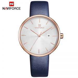 NAVIFORCE Women Watches Top Luxury Brand Fashion Casual Ladies Waterproof Quartz Watch Leather Dress Girl Clock Relogio Feminino