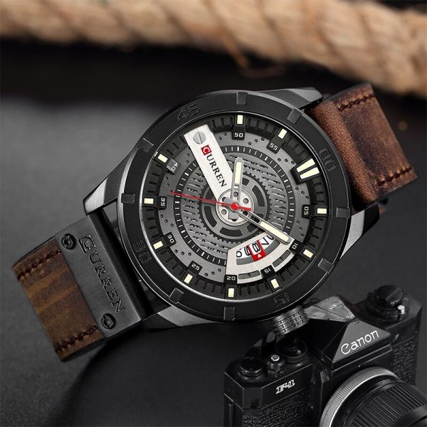 CURREN 8301 Luxury Brand Mens Military Sports Watches Male Analog Date Quartz Watch Men Casual Leather Wrist Watch Drop Shipping