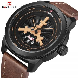 Original NAVIFORCE Men's Watches Fashion Creative Sport Wristwatch Leather Waterproof Male Date Quartz Clock Relogio Masculino
