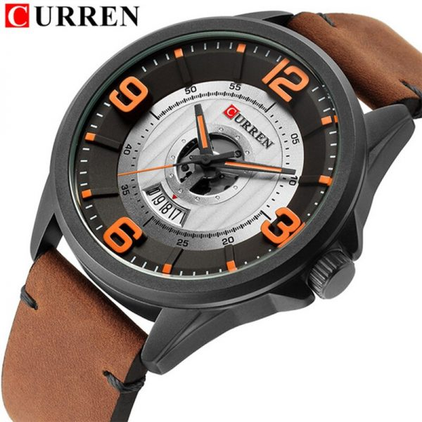 2020 CURREN fashion top new Luxury Brand Relogio Masculino week Date diaplay Leather strap Men Sports Watches Quartz Clock 8305