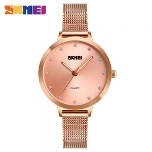 SKMEI Women Quartz Watch Female Fashion Clock Watches Stainless Steel Strap Ladies Business Wristwatch relogio feminino 1291