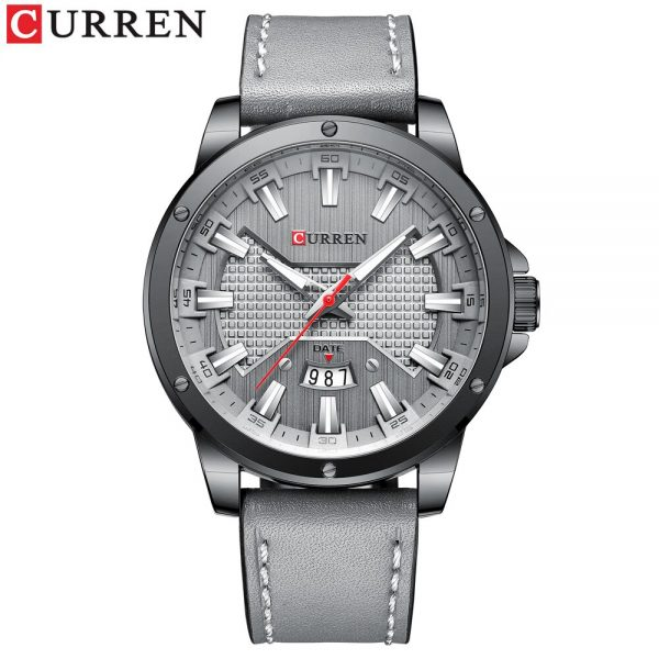 Top Brand New CURREN Fashion Brand Casual Quartz Watch for Man New Leather Wristwatches Male Clock with Date Relogio Masculino