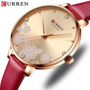 2020 CURREN Fashion Casual Woman Watch Luxury Elegant Ladies Quartz Wristwatches With Leather Strap Charming Design Female Clock