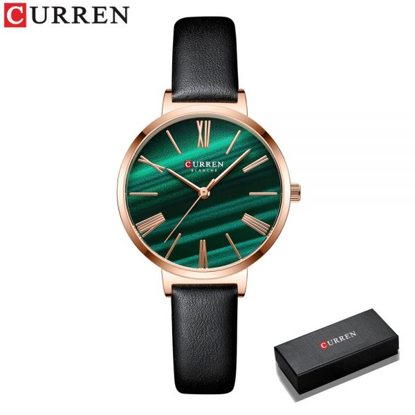 New CURREN 2020 Fashion Luxury Brand Watches for Women Leather Strap Quartz Female Clock Dress Gift Lovely Girl Wristwatch 9076