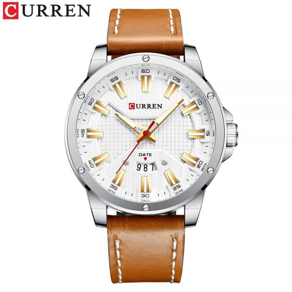 New Arrivals Curren Watches for Men Luxury Brand Fashion Casual Quartz Wristwatch Leather Strap Business Clock Male Watch Men