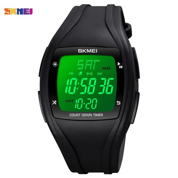 SKMEI LED Light Display Men Digital Wristwatch Military Chronograph Waterproof Countdown Timer Sport Watches Relogio Masculino