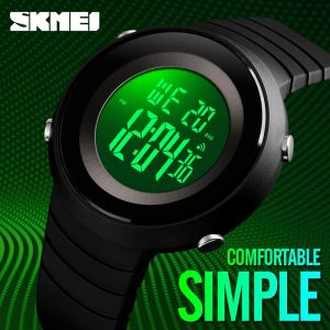 SKMEI LED Display Electronic Men Sport Watches Military Stopwatch Calendar Waterproof Wristwatch Clock Relogio Masculino 1507