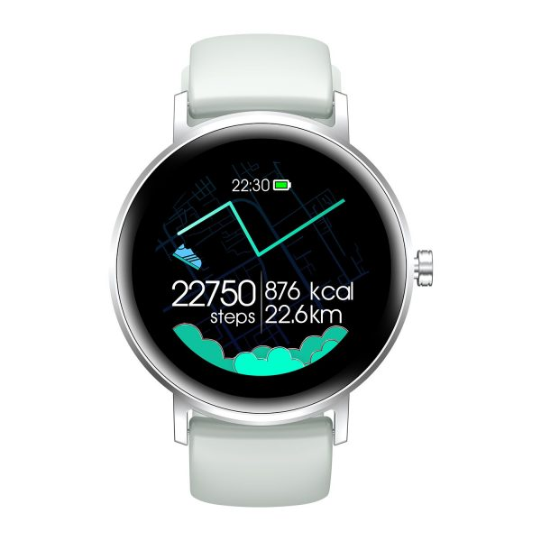 Women Smart Watch Real Time Heart Rate Bluetooth 5.0 Blood Oxygen Pedometer Music Control Sleep Record Calorie