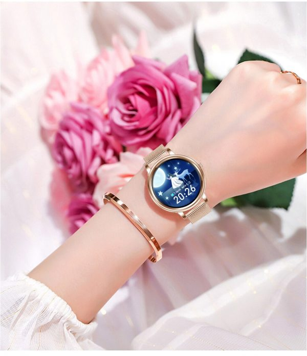 Women Smart Watch Small Dial Real Time Heart Rate Vibration Reminder Sport Record Blood Pressure Bluetooth 5.0