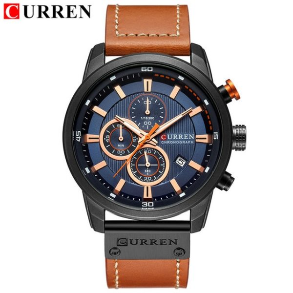 CURREN Luxury Brand Men Sports Watches Analog Digital Leather Strap Military Watch Man Quartz Clock Relogio Masculino Relogio