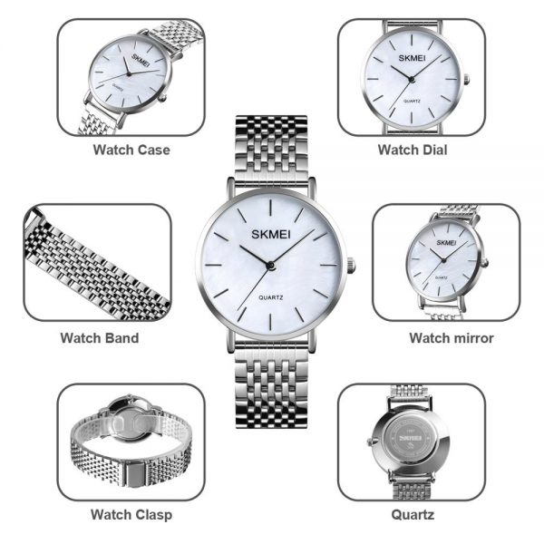 SKMEI Japan movement Quartz Ladies Women Watches Simple Silver Color Steel Female Wristwatches Girl Clock Relogio Feminino 1567