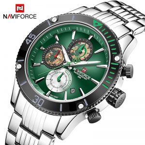 New NAVIFORCE Mens Watches Army Military Sports Wrist Watch Men Waterproof Date Chronograph Green Quartz Clock Relogio Masculino