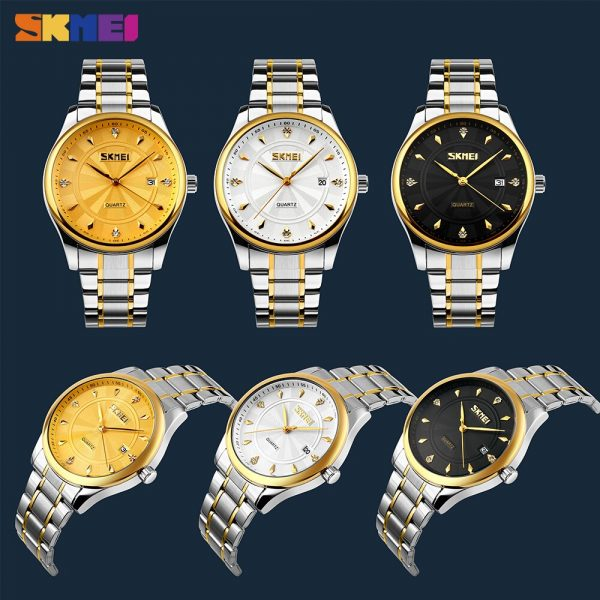 SKMEI 9101 Japan movement Quartz Men Watch Calendar 3Bar Waterproof Sport Watches Male Clock Montre homme reloj hombre