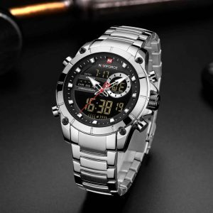 NAVIFORCE New Creative Men Watch Top Luxury Brand Quartz Wrist Watch Male Waterproof Dual Display Date Clock Relogio Masculino