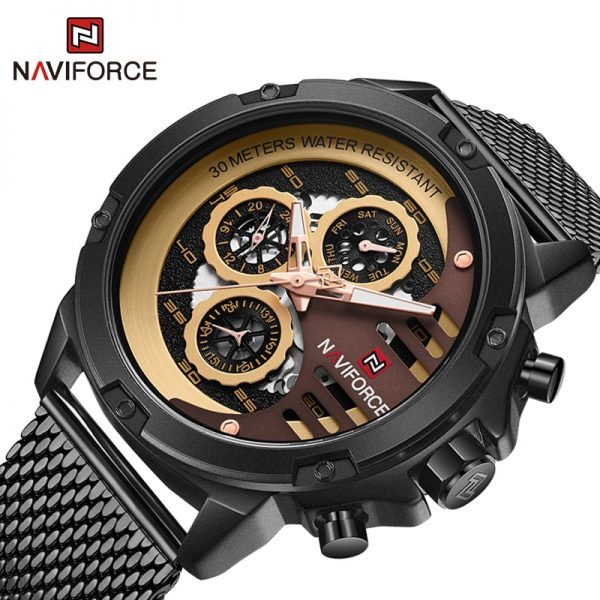 NAVIFORCE Luxury Brand Men's Watches Military Sports Quartz Wristwatch Male 3ATM Waterproof 24hour Date Clock Relogio Masculino