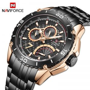 New NAVIFORCE Men Watches Sport Waterproof Stainless Steel Fashion Luxury Watch Date Clock Quartz Wristwatch Relogio Masculino