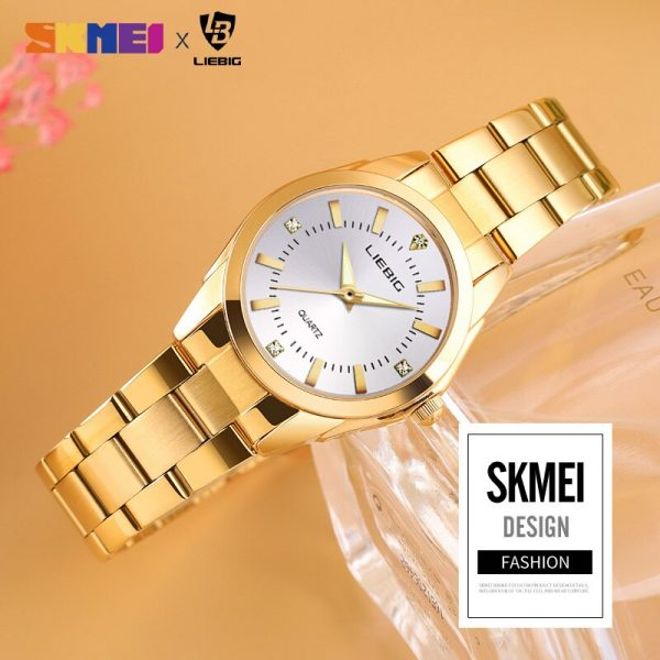 New Arrival luxury Gold Stainless Steel Watches Women Clock Ladies Female Wristwatch Montre femme Relogio Feminino L4005