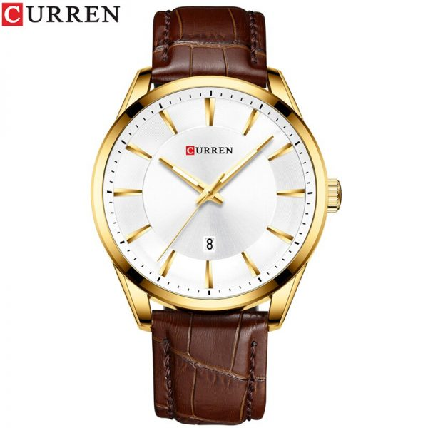 CURREN New Simple Men Leather Watch Men Top Luxury Brand Quartz Watches Relogio Masculino Fashion Casual Wristwatch Male Clock