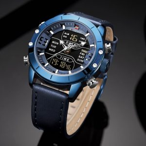 NAVIFORCE Watch Men Luxury Army Military Sport Leather strap Wristwatch Mens Waterproof Digital Quartz Clock Relogio Masculino