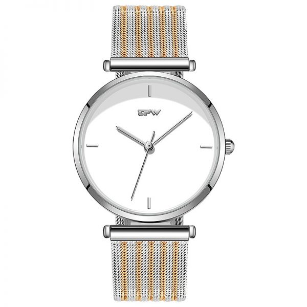 Minimalism Women Watches Light Elegant Style Simple Dial Stainless Steel Strap Japan Movement