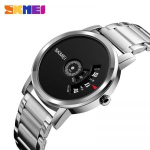 SKMEI Relogio Masculino 1260 Fashion Men Quartz Watch Stainless Steel Strap Waterproof Male Wristwatches Clock