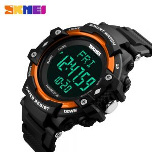 SKMEI Men Electronic Watch Pedometer Heart Rate Monitor Male Waterproof Sport Watches Digital Relojes Hombre Montre homme Clock