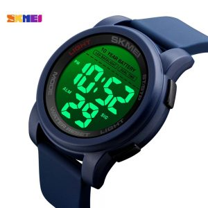 SKMEI Japan Movement Electronic 10 year Battery Men's Watches LED Back Light 2 Time Clock 50m Waterproof Relogio Masculino 1564