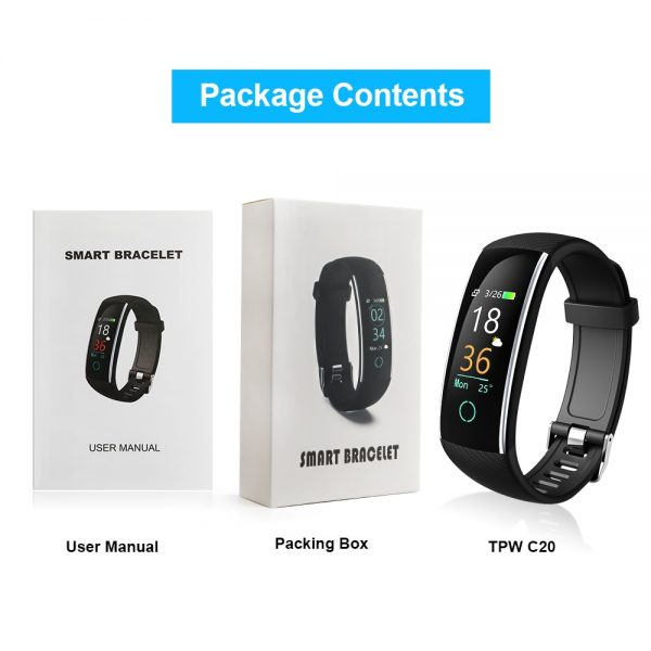Smart Bracelet Band Heart rate Monitor Blood Pressure IP68 Fitness Tracker Wrisatband Smart Watch for ios android +BOX
