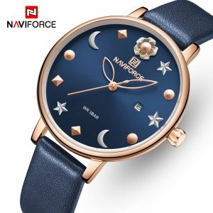 NAVIFORCE Watches Women Luxury Brand Fashion Quartz Ladies Watch Waterproof Dress Wristwatch Simple Girl Clock Relogio Feminino