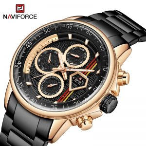 NAVIFORCE Luxury Brand Mens Watches Multi-function Auto Date Waterproof Clock Fashion Casual Quartz Wristwatch Relogio Masculino