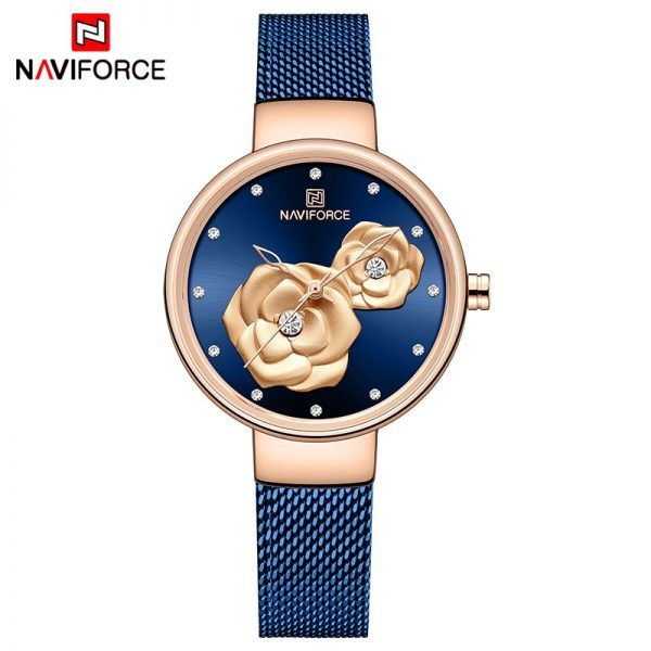 NAVIFORCE New Watch for Women Luxury Brand Creative Design Steel Mesh Women's Watches Female Clock Relogio Feminino Montre Femme