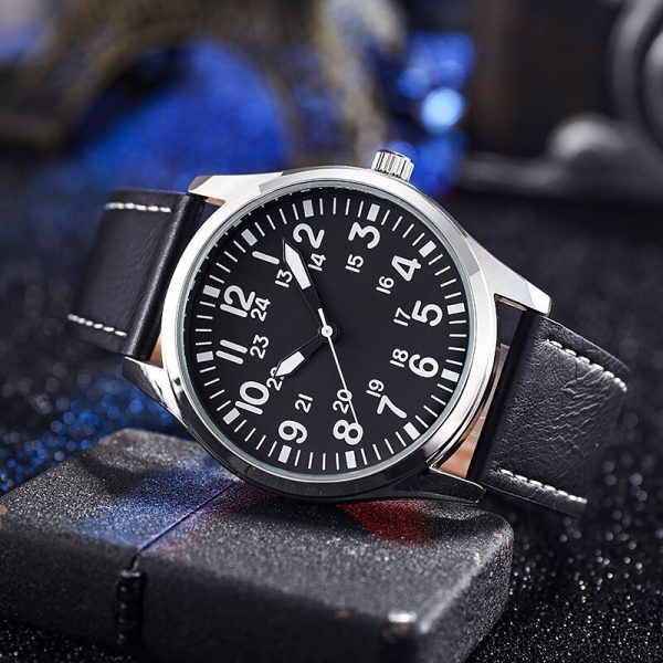 Arabic Numbers Stainless Steel Strap Quartz Watch Relogio Masculino Wristwatch Easy Reading Classic Style