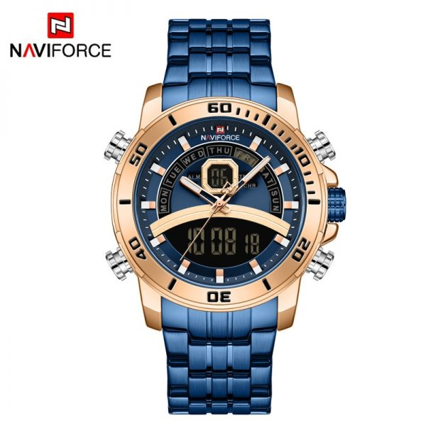 NAVIFORCE Luxury Watches For Mens LED Digital Sport Military Quartz Wristwatch Waterproof Luminous Clock Male Relogio Masculino