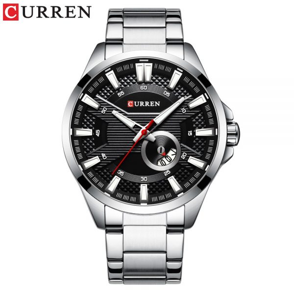 CURREN Watches Men Top Brand CURREN Fashion Causal Quartz Wristwatch Stainless Steel Band Clock Male Watch Reloj Hombres
