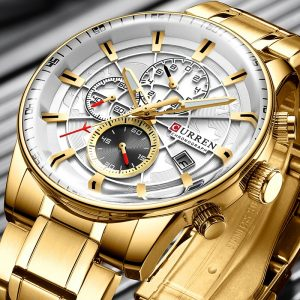 Watch Men CURREN Sport Watch Top Luxury Brand Gold Waterproof Quartz Men Watches Chronograph Date Male Clock relogios masculino