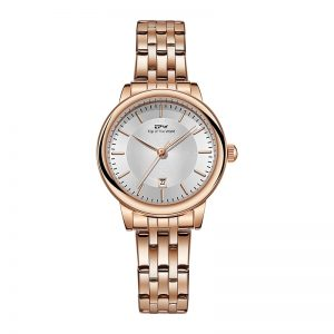 Women Business Watches Rose Gold Calander Stainless Steel Band Lady Luxury Dress Elegant Bracelet 3ATM Waterproof