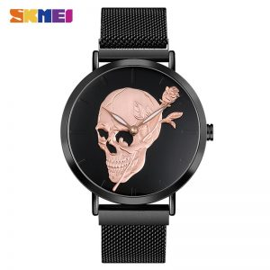 2020 SKMEI Luxury Brand Skull Skeleton Men Quartz Watches 30M Waterproof Male Wristwatch relojes hombre 9173 Men's Watch Clock
