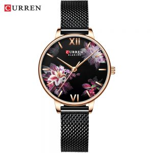 CURREN Fashion Casual Watches Women Charming Stainless Steel Bracelet Quartz Watch Ladies Classy Wristwatch Female Casual Clock