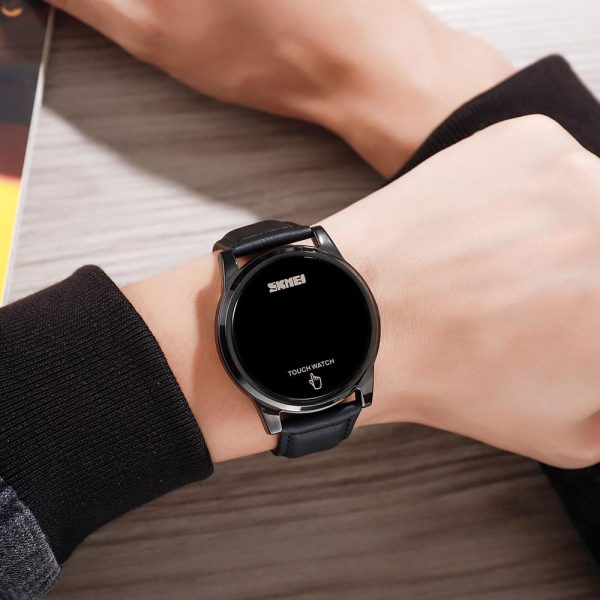 SKMEI Japan Digital Movement Men Watches Creative Touch Screen LED Display Electronic Male Wristwatch Relogio Masculino 1684