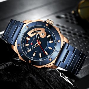 Curren Watch Waterproof Quartz Brand Men's Sports Calendar Fashion Men's Watch Stainless Steel Waterproof Sports Watch Man Clock
