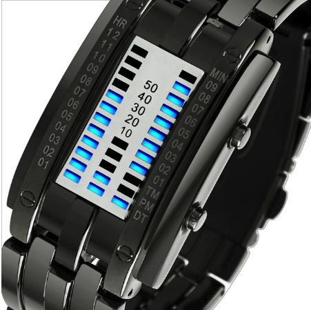SKMEI Creative Date Hour Design LED Display Men Digital Watch Waterproof Male Wristwatch Sport Watches Clock Relogio Masculino