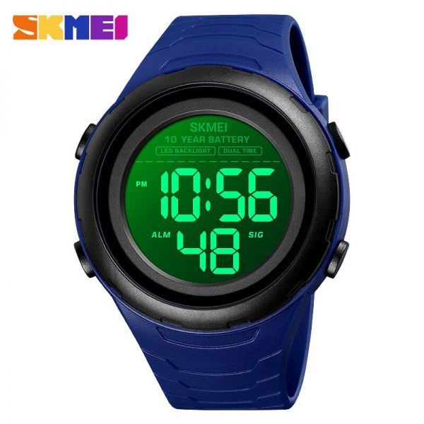 SKMEI Military Stopwatch Chronograph LED Light Digital Men Watches 5Bar Waterproof Relogio Masculino 10 Year Battery Clock 1675