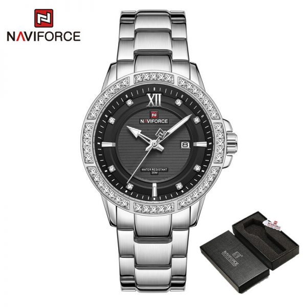 NAVIFORCE Watches Mens Quartz Stainless Steel Band Male Wrist Watches for Men Business Design Military Clock Relogio Masculino