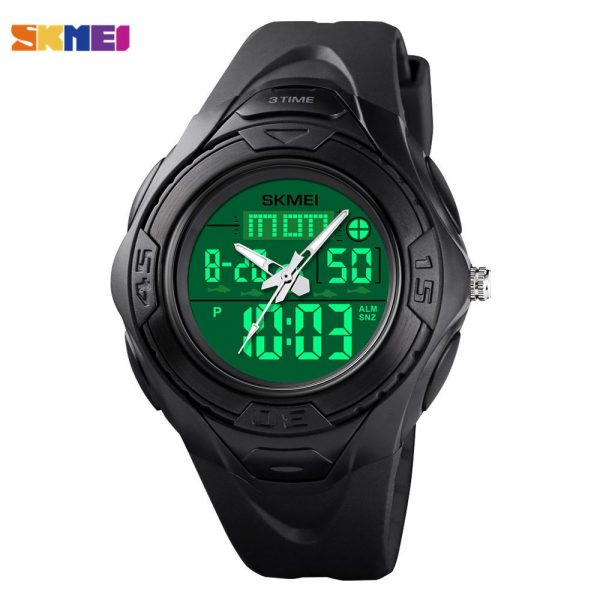 SKMEI LED Light Digital Men Wrist Watch Clock Outdoor Military 3 Time Stopwatch Countdown Sports Watches Relogio Masculino 1539