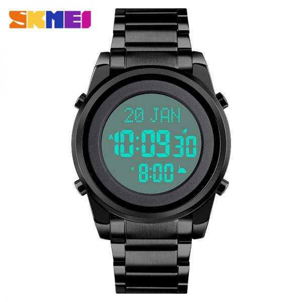 SKMEI Japan Digital Movement Watch Muslim Azan Alarm Clock Islamic Al Harameen Fajr Time Week Wristwatch Relogio Masculino 1734